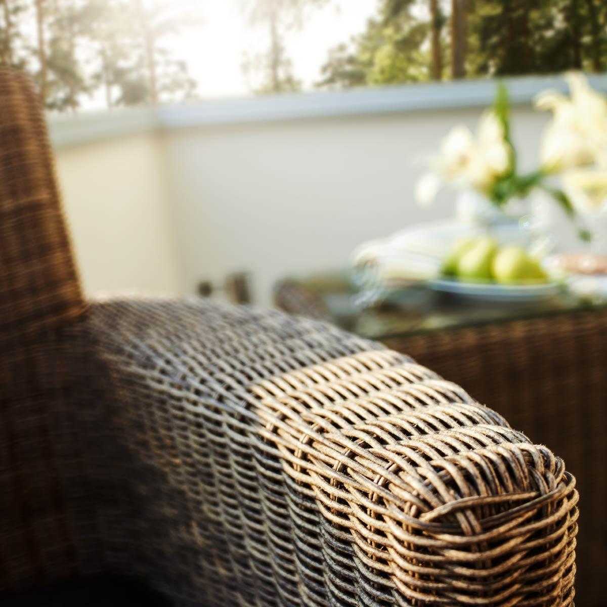 Luxus Rattan Gartenmobel : Kettler Cupido Nahaufnahme Armlehne