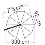 May Sonnenschirm Mezzo grün bis 330 cm Ø #3