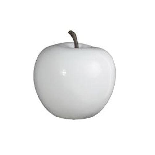 Deko Apfel weiß, Kunstharz H32cm - Peter Süße