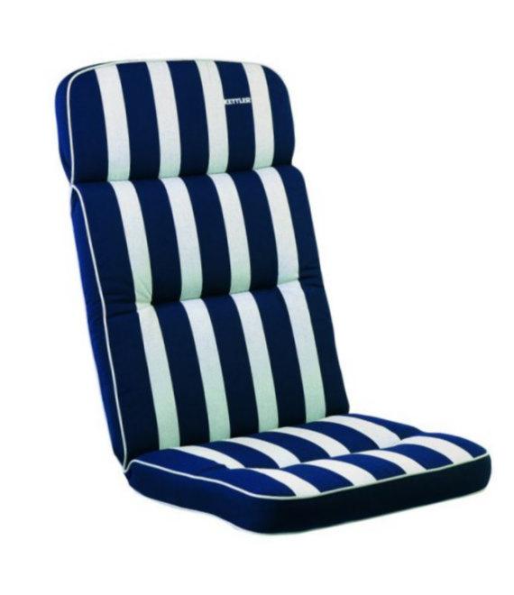 Kettler Hochlehner Weiß.Kettler Auflagen Dessin 521 Streifen Blau Silbergrau Rs Uni Blau Kth 3