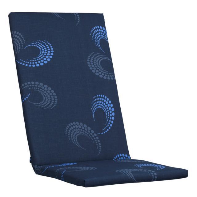 Kettler Auflagen Dessin 888, dunkelblau mit schwungvollem Design, KTH 2 #1