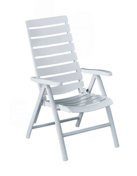 Kettler Riva Multipositions-Sessel weiß #1