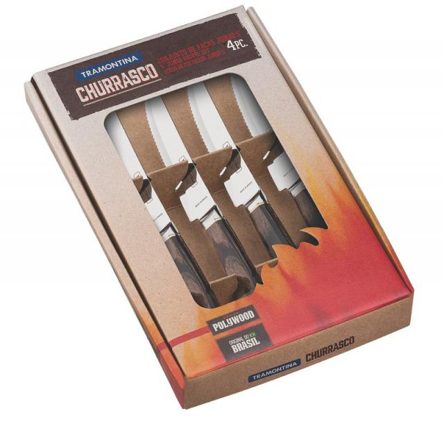 Churrasco Steakmesser Set 4tlg.braun #1