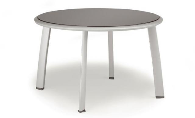 Avance Tisch mit Glasplatte 120cm rund #1
