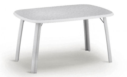 Alu-Klapptisch 140x90 cm weiss-marmoriert #1