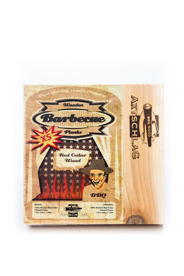 Axtschlag Räucherbretter klein - Zedernholz (4 Stück) #1