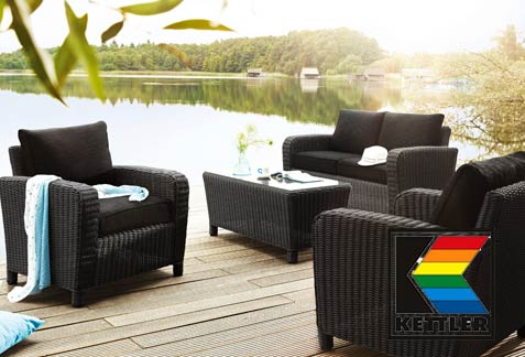 kettler polyrattan und geflecht gartenm bel. Black Bedroom Furniture Sets. Home Design Ideas