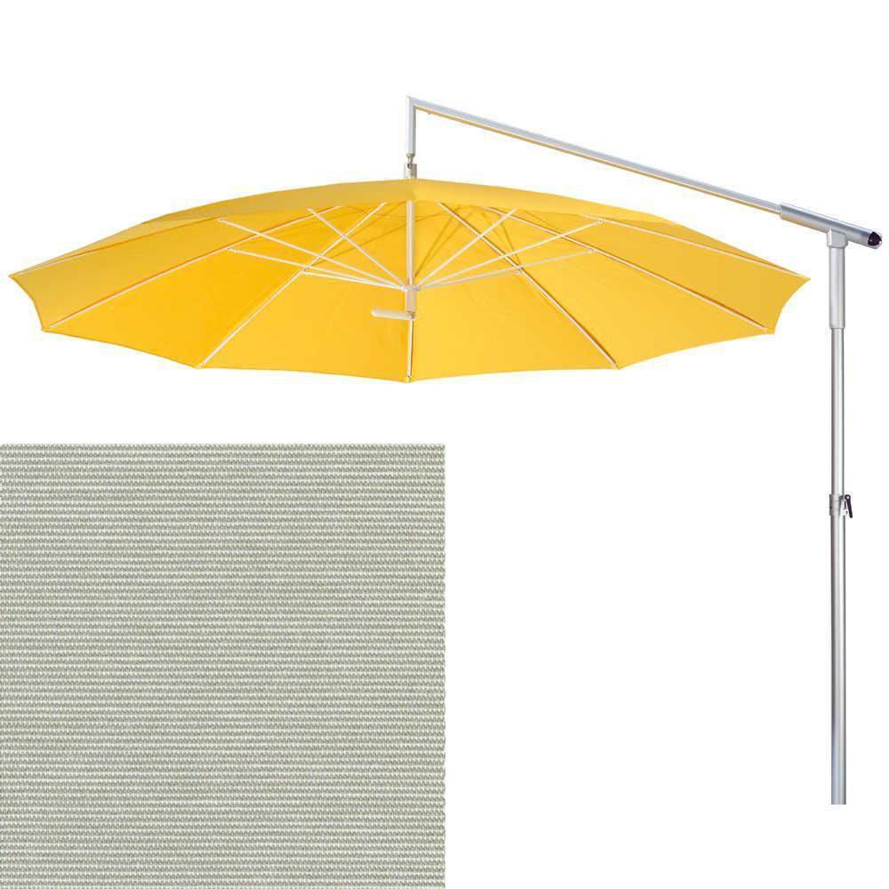 may ampelschirm dacapo grau weiss bis 350 cm mit kurbel peter s e. Black Bedroom Furniture Sets. Home Design Ideas