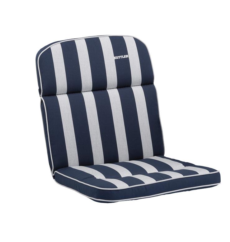 Kettler Auflagen Dessin 521, Streifen dunkelblau-silb -grau, RS uni ...