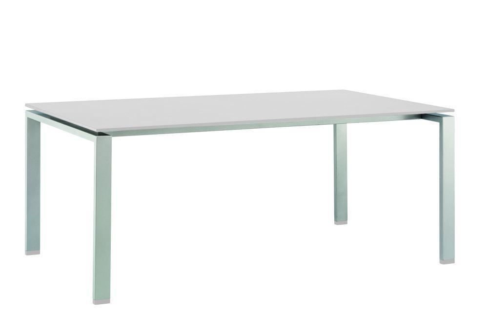 Float HPL Diningtisch 220x100cm silber/weiß ohne Dekor - Peter Süße