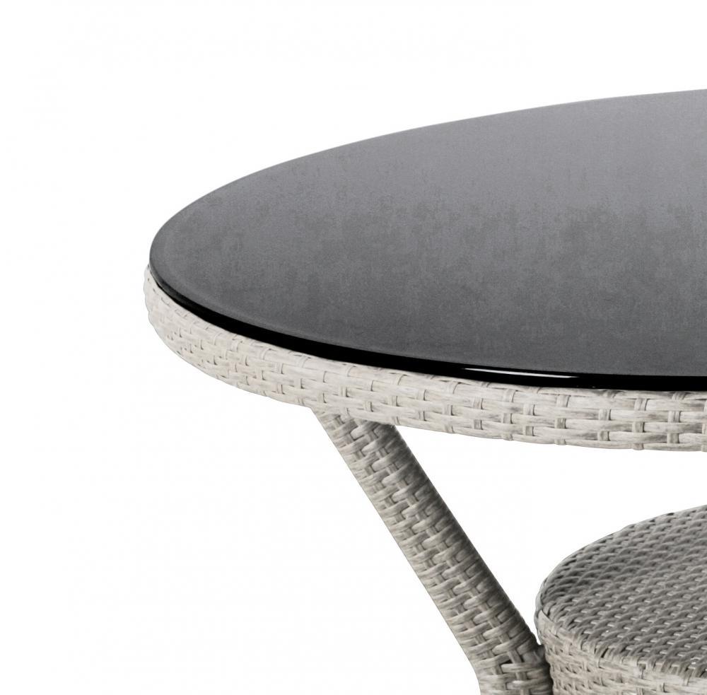 Hochbeet Aus Stein Gemauert : Kettler Medoc Tisch rund 103 cm whitewash Glasplatte  Peter Süße