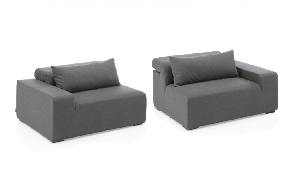 Kettler royal sofa modular 2 teilig sunbrella peter s e for Sofa 2 teilig