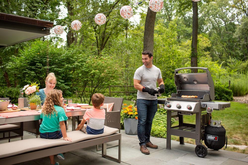 Weber Outdoor Küche Reinigen : Weber gasgrill genesis ii ep gbs black