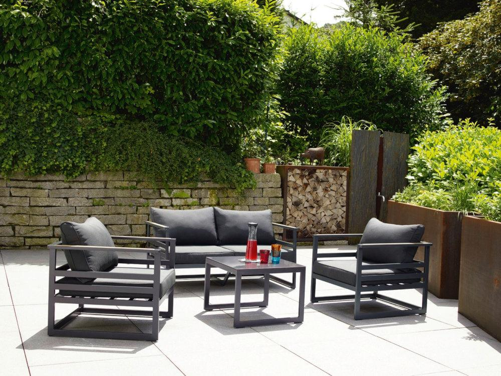 sieger sydney lounge gruppe in eisengrau grau peter s e. Black Bedroom Furniture Sets. Home Design Ideas