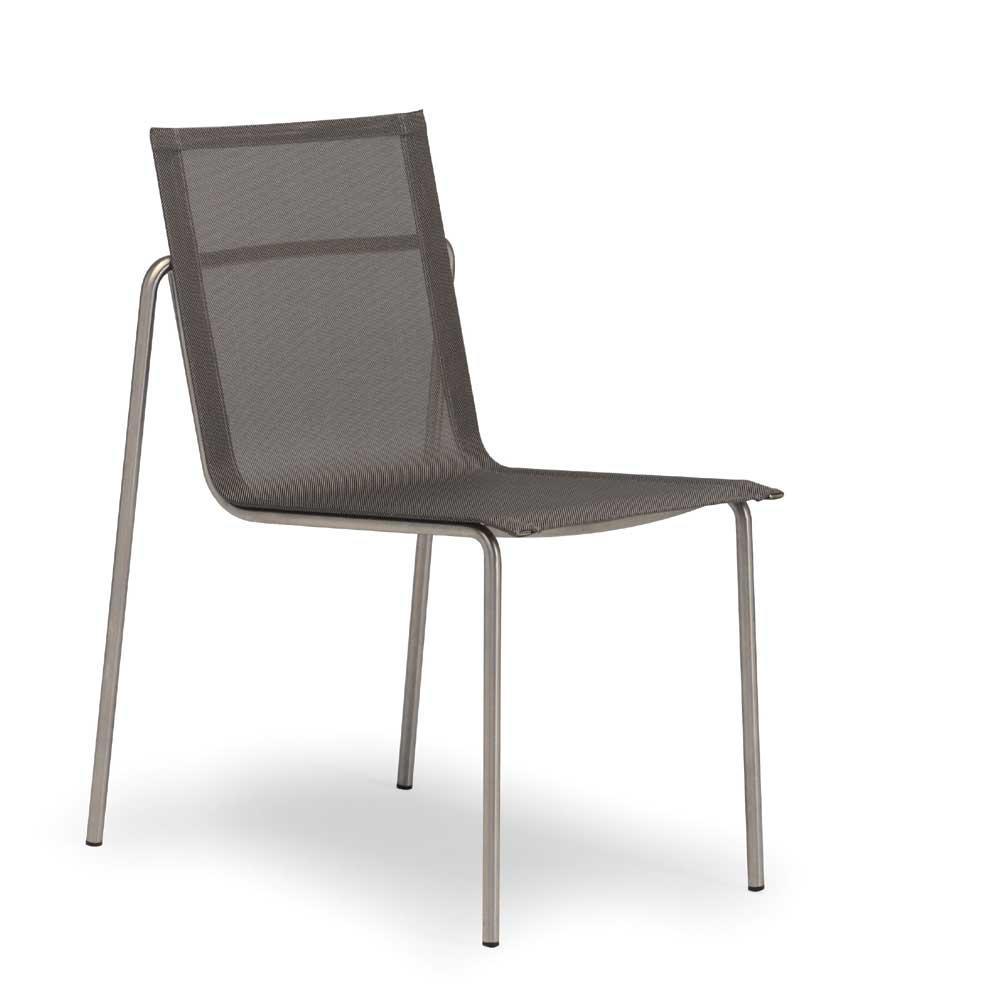 Fischer taku stuhl edelstahl silber schwarz peter s e for Stuhl edelstahl