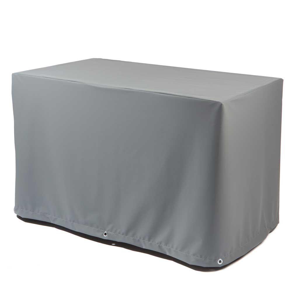 heinem tischhaube eckig grau teak safe peter s e. Black Bedroom Furniture Sets. Home Design Ideas