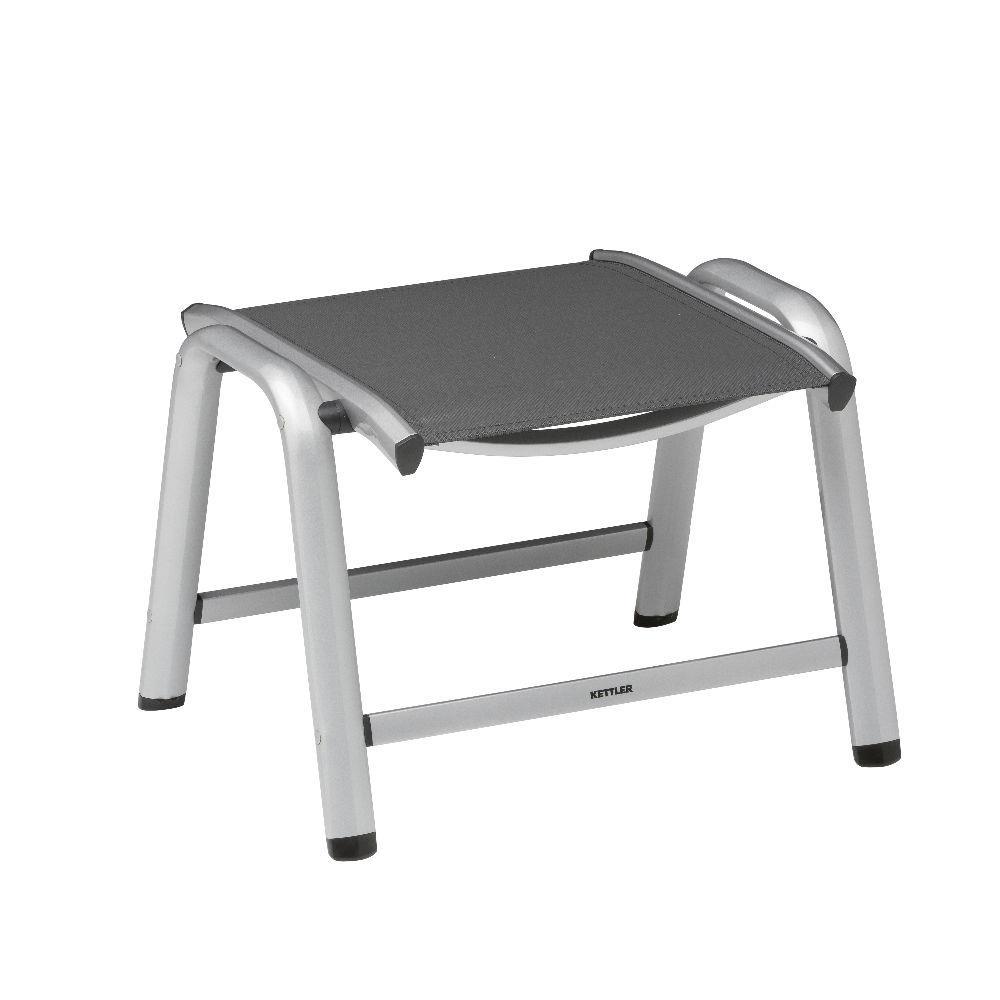 kettler vista hocker silber anthrazit peter s e. Black Bedroom Furniture Sets. Home Design Ideas