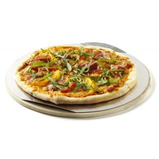 Weber Pizzastein 36cm, Cordierit, mit Alublech