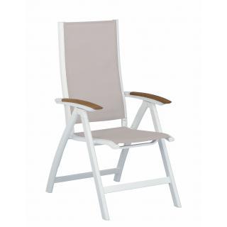 Avance Multipositions-Sessel weiß/natur leider ausverkauft
