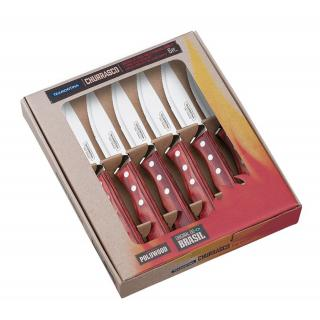 Churrasco Steakmesser Jumbo Set 6tlg.rot