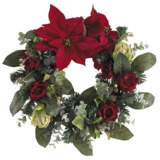 Fiebiger Poinsettia Weihnachtskranz 45cm