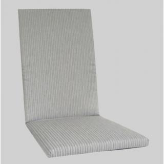 KETTtex Exklusiv Auflagen Dessin 2207 grau mit feinen Streifen