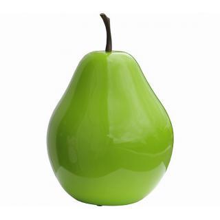 Deko Birne grün, Kunstharz H30cm