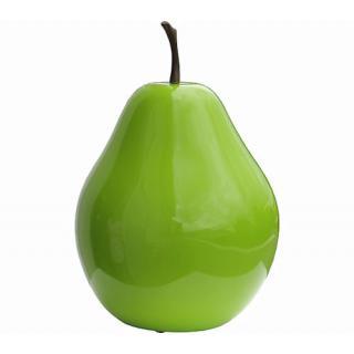 Deko Birne grün, Kunstharz H36cm