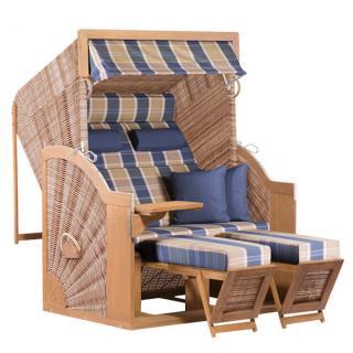 deVries Strandkorb PURE Comfort XL Teak Dessin 428