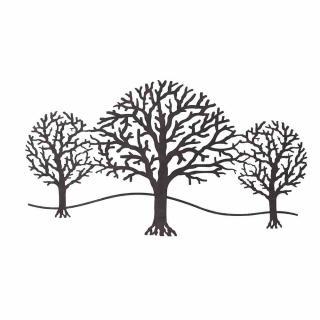 Wandbild Bäume rostbraun 97x52,5 cm