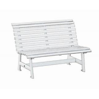 Kettler Parkbank 2-Sitzer Alu, weiß