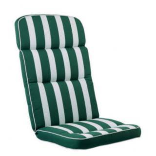 KETTtex® Exklusiv Auflagen Dessin 522, Streifen grün, RS grün uni KTH3