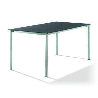 Edelstahltisch m.Glasplatte 160x90cm