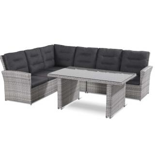 Springfield Lounge Set white wash/-grau