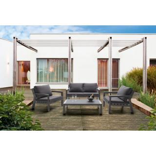 Sieger Brisbane Lounge-Gruppe eisengrau/grau -