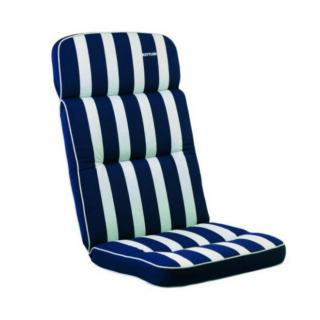 Kettler Auflagen Dessin 521, Streifen dunkelblau-silb -grau, RS uni dunkelblau KTH 3