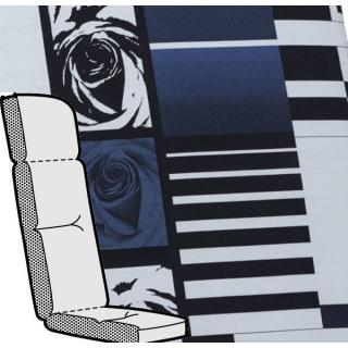 Kettler Anfertigung 870 in KTH3, blau helgrau mit floralem Design