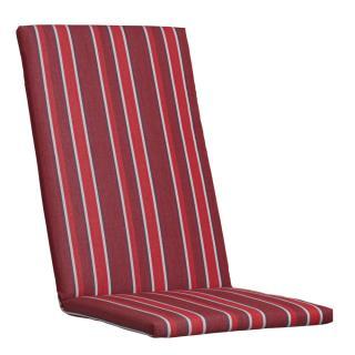 Kettler Auflagen Dessin 881, bordeaux-rot mit grauen Streifen, KTH 2