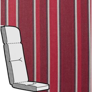 Kettler Anfertigung 881 in KTH3, bordeaux rot mit grauen Streifen