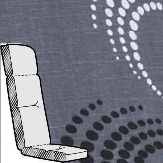 Kettler Anfertigung 890 in KTH3, anthrazit mit schwungvollem Design