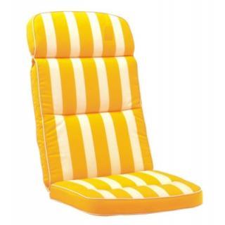 KETTtex Exklusiv Auflagen Dessin 586, gelb gestreift, Rückseite uni gelb KTH3