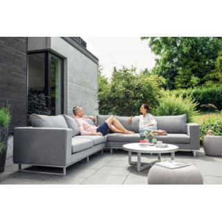 Kettler Ego Lounge-Tisch Ø92cm Glasplatte 5 mm