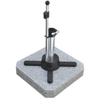 Liro Mini Plus 50 K Granit fahrbar grau Schnellspannung 35,38/39,50,55