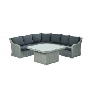 Kettler Madrid Dining-Set beach-grey