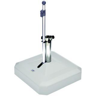 Liro Mini Plus 45 Schirmständer fahrbar weiss Flexibele Klemmung (25-53mm)