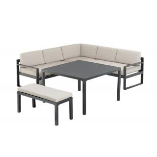 Kettler Ocean Casual Dining Set anthrazit/taupe