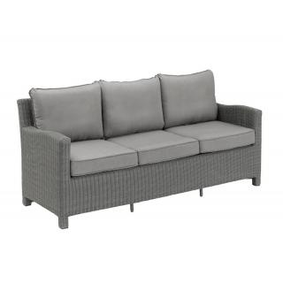 Kettler Palma Dining-Couch 3er olive-grey