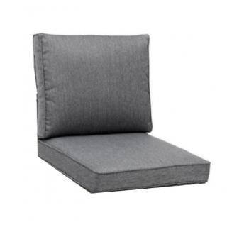 KETTtex Palma Sitz-und Rückenkissen Set, wasserdicht,anthrazit