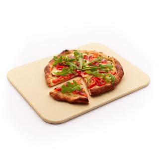 Profi-Pizzastein rechteckig, 38x35cm für Weber Gasgrills