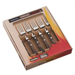 Churrasco Steakgabel Jumbo Set 6tlg.braun
